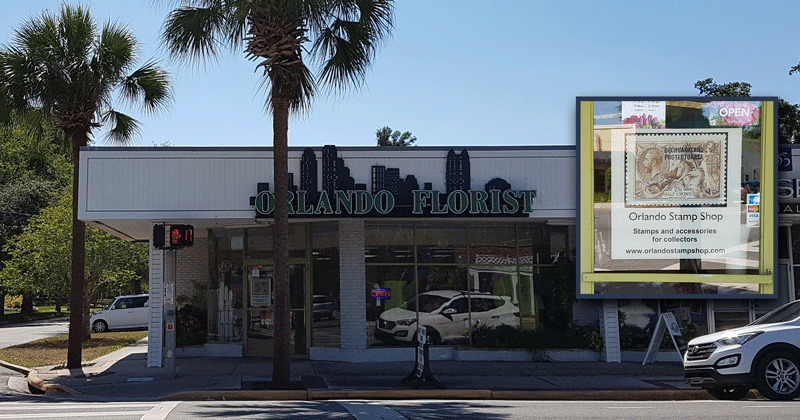 Orlando Stamp Shop is located inside Orlando Florist
